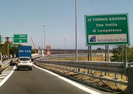 R24 complanare di Savona: chiuso per una notte l'allacciamento con la A6 Torino-Savona