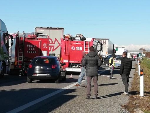 Salgono a due le vittime dell'incidente di ieri sulla A6: deceduto all'ospedale di Cuneo pensionato torinese di 81 anni