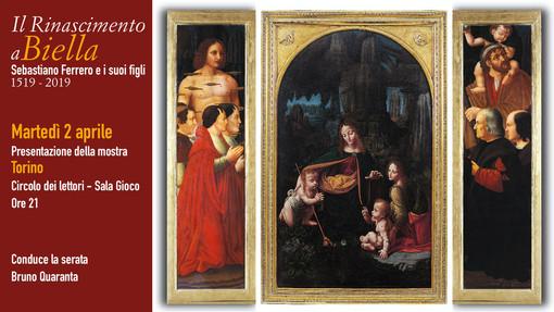"""""""Il Rinascimento a Biella. Sebastiano Ferrero e i suoi figli"""", il 2 aprile la presentazione"""