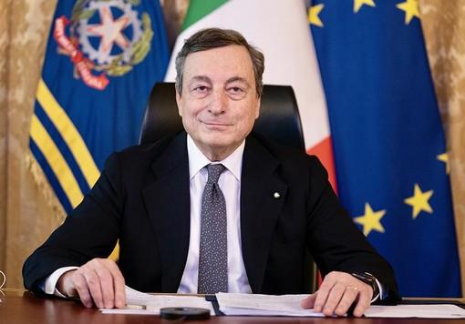 """Il primo video messaggio di Draghi: """"Si intravede una via d'uscita dalla pandemia, il governo per primo deve fare la sua parte. Ringrazio i cittadini"""" [VIDEO]"""