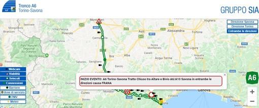 Autostrada ancora nel caos: chiuso il tratto dell'A6 tra Altare e il bivio A6/A10