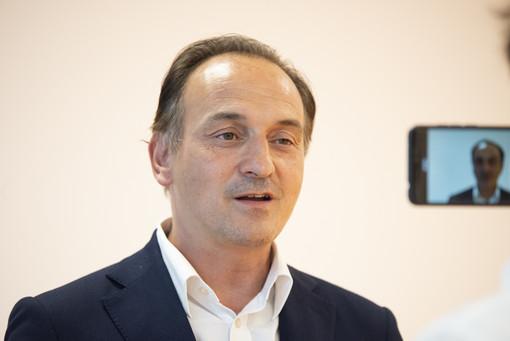 Il governatore del Piemonte Alberto Cirio