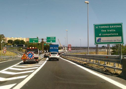 Complanare di Savona, chiusura notturna dell'allacciamento con la A6