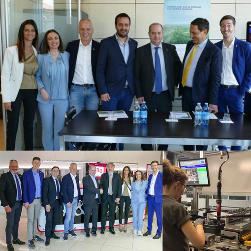 Gianna Gancia e il viceministro Galli in visita a Egea e MTM