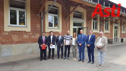 Il Rettore del Politecnico Saracco in visita al polo universitario Levi Motalcini di Asti