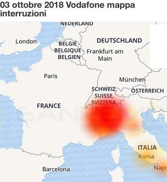 Sta arrivando il rimborso Vodafone per problemi del 3 ottobre: SMS dedicati