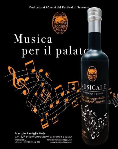 """Arriva in tavola """"Musicale"""", l'olio dedicato ai 70 anni del Festival della Canzone"""
