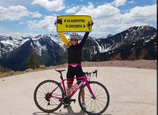 """Paola Gianotti arriva a Crescentino per """"Io rispetto il ciclista"""""""
