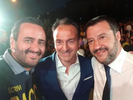 Racca e Salvini (Lega) instancabili fratelli nelle piazze sino alla fine: no al lavoro dei robot al posto dell'uomo