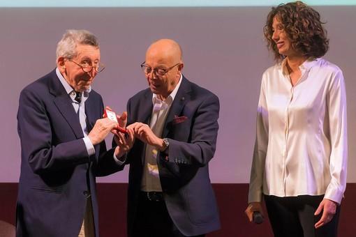Sergio Romano con Gianfranco Imerito e Roberta Bellesini (ph. Franco Rabino)