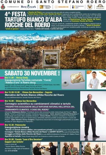 Santo Stefano Roero (CN): fervono i preparativi per 4° Festa Tartufo Bianco D'Alba sabato 30 novembre
