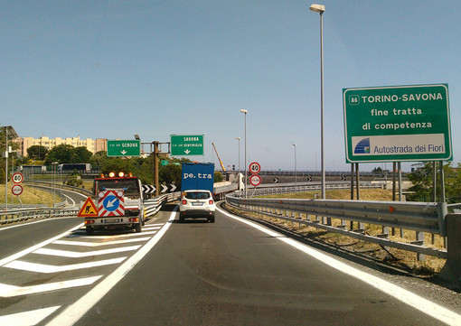 Complanare di Savona: chiusure notturne dell'allacciamento con la A6 per chi proviene da Genova verso Torino
