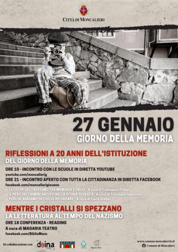 locandina eventi Giorno della Memoria a Moncalieri