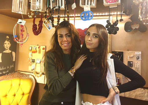 Milena Fiori con la figlia Rebecca