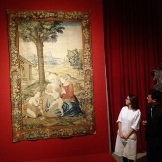 L'arazzo di Raffaello dal Santuario di Loreto al Centro Conservazione e Restauro di Venaria