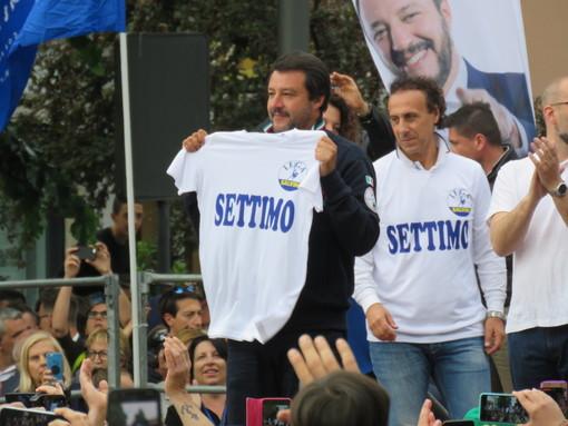 Matteo Salvini a Settimo Torinese