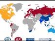 La distribuzione nei continenti