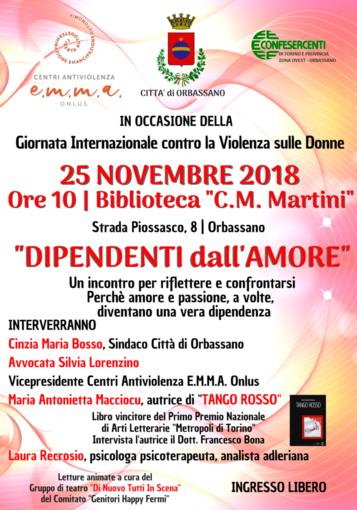 """Orbassano, domenica 25 """"Dipendenti dall'amore"""", un incontro per riflettere"""