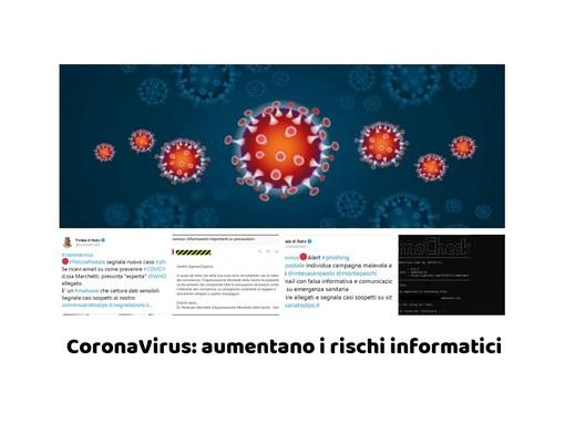 """Coronavirus: aumentano anche i rischi informatici! Campagne malware e Smart working """"improvvisato"""""""