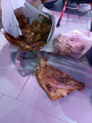 La Polizia Municipale lo ferma per un controllo e scopre che portava 50 chili di carne nel trolley: denunciato