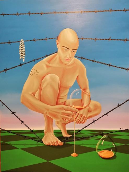 """""""Il tempo non dimentica"""", acrilico su tela di Angelo Franco; www.angelofranco.it"""