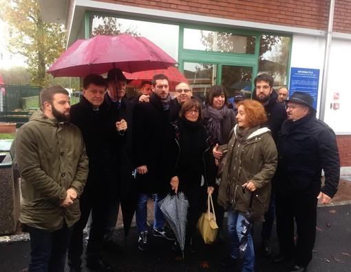 I sindaci che hanno partecipato alla protesta