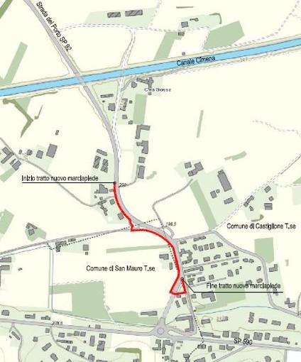 Un progetto per rendere più sicura per i pedoni la strada Provinciale tra San Mauro e Castiglione