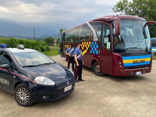 il bus in cui è avvenuta l'aggressione
