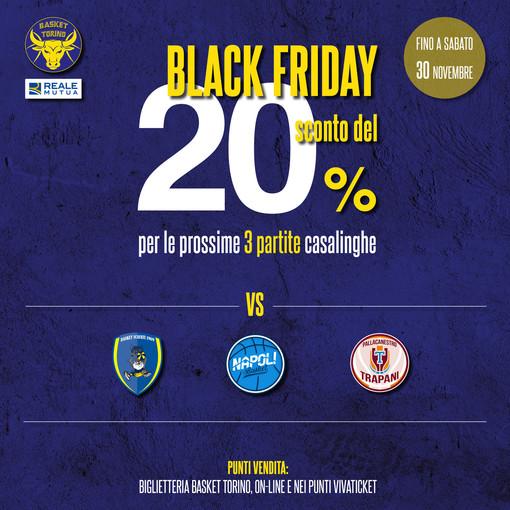 Il Black Friday della Reale Mutua Basket Torino