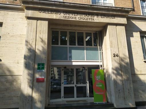 Il collegio universitario all'angolo tra corso Lione e via Braccini