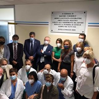 La rianimazione dell'ospedale di Rivoli intitolata al dottor Davide Cordero