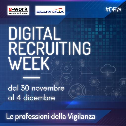 Digital Recruiting Week, dal 30 novembre al 4 dicembre selezioni per 150 addetti in Piemonte