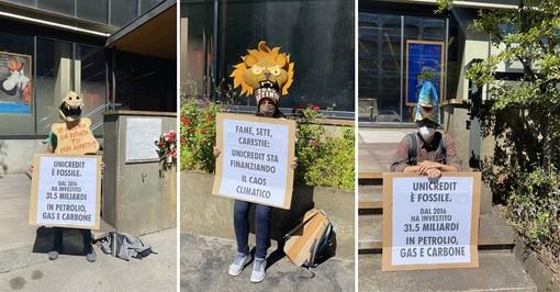 Attivisti Extinction Rebellion a Torino
