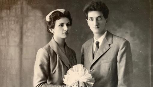 Edoardo e Luciana Sanguineti nel giorno del matrimonio (foto tratta dagli archivi di famiglia)