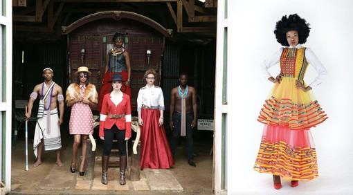 Colori e tessuti naturali nelle estrose creazioni  degli stilisti sudafricani alla Torino Fashion Week