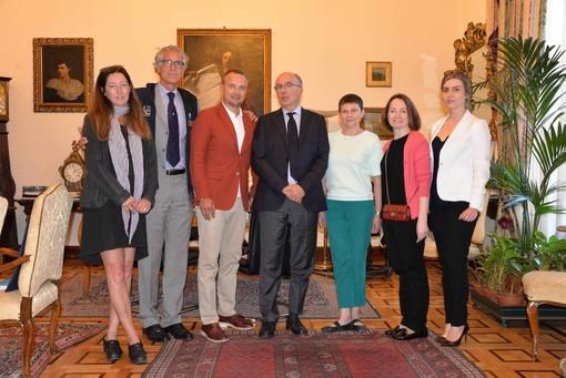 La FISU e la delegazione della 29esima Universiade Invernale di Krasnoyarsk in visita a Torino