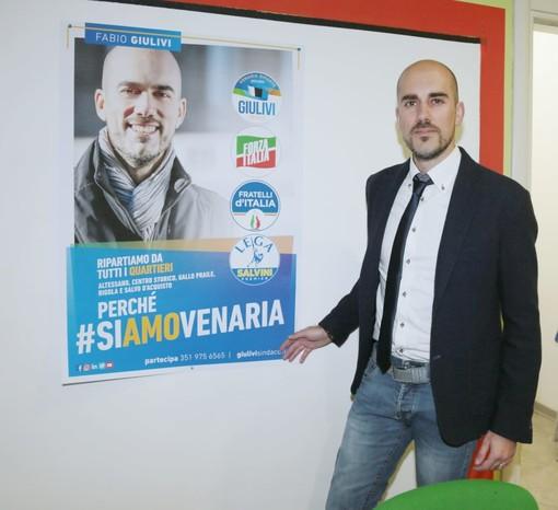 """Venaria, il centrodestra unito con Giulivi: """"Oggi apriamo comitato elettorale, sarà la casa dei cittadini"""""""