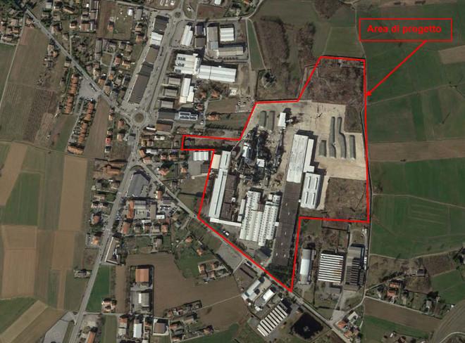 Area del progetto di riapertura della Kastamonu a Frossasco