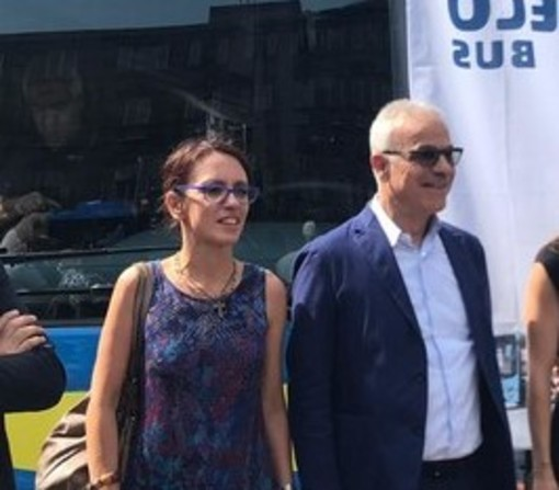 L'ad di Gtt Giovanni Foti con l'assessora Maria Lapietra
