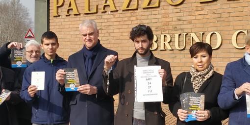 """Sit-in di Forza Italia contro l'abolizione della prescrizione: """"Il Paese ha bisogno di ministri seri"""""""