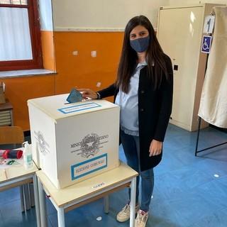 Chiara Appendino al voto