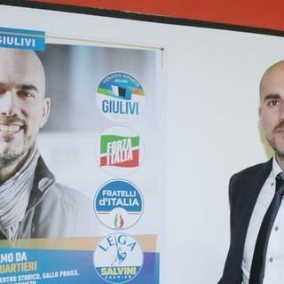 Il candidato sindaco di Venaria per il centrodestra, Fabio Giulivi