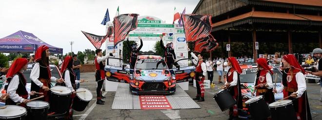 Quattro Hyundai ai primi quattro posti del Rally di Alba