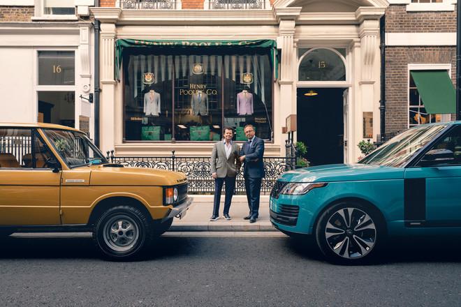 Land Rover e Henry Poole creano un tessuto esclusivo per festeggiare i 50 anni di Range Rover
