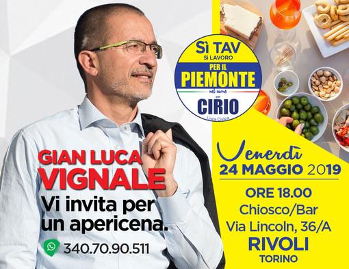 Regionali, Gian Luca Vignale sarà a Beinasco e Rivoli