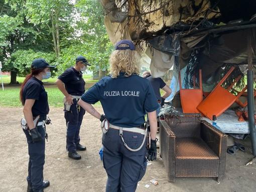 polizia municipale a parco sempione