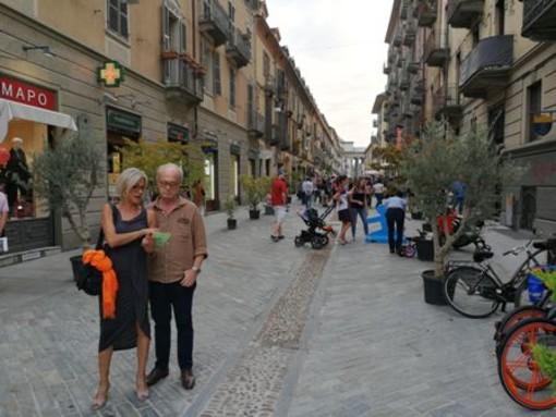 Inaugurazione della via pedonalizzata lo scorso settembre