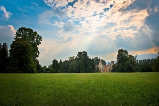 Il parco del Castello di Miradolo
