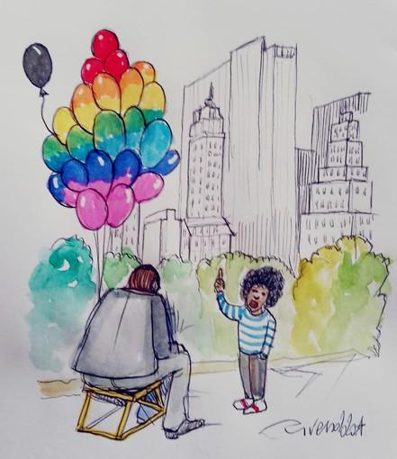 """#FavoleaCasa di oggi propone """"Il palloncino"""", la favola psicologica sull'outing dei colori che abbiamo dentro, letta e commentata da Fata Zucchina"""