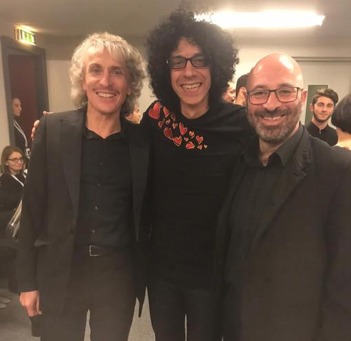 Il pinerolese Giovanni Battaglino in tour con il pianista Giovanni Allevi